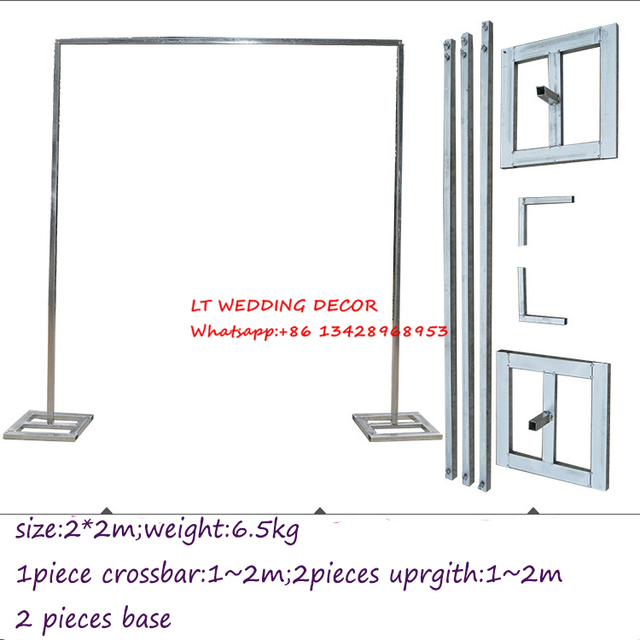 2m 2m Wedding Zincplated Metal Wedding Backdrop Stand Drap Stand