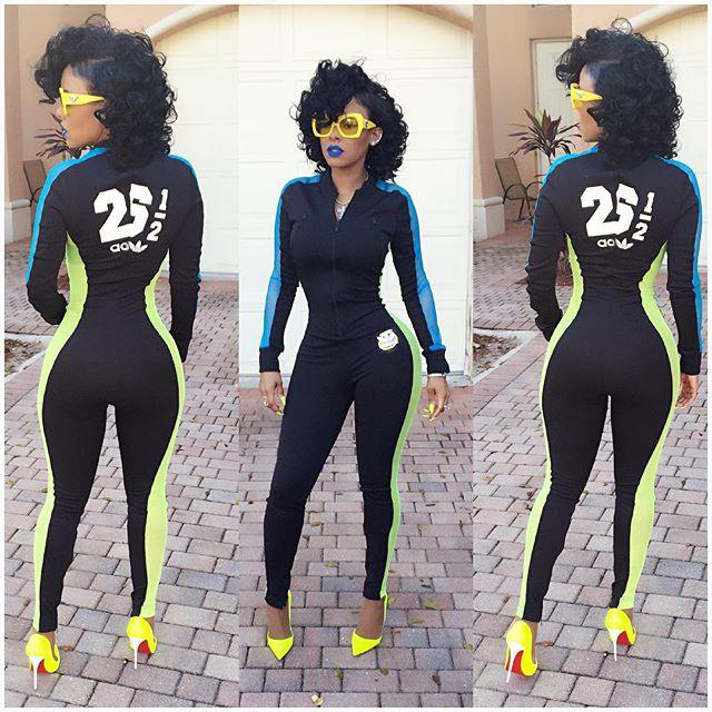 c0ff6cb79 New Women Bodyon sexy Jumpsuits Rompers 2016 Ladies Long Sleeve Sportswear  Playsuits Athletic Zipper Bodysuit Overalls macacao