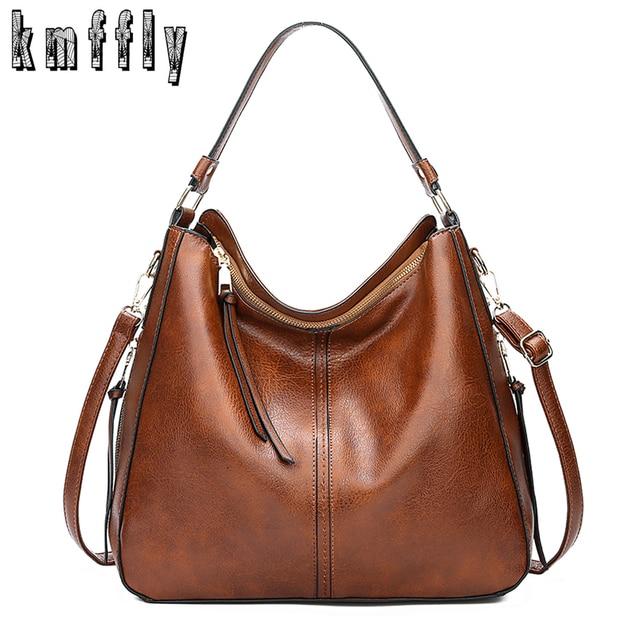 2020 خمر المرأة الكتف حقيبة كروسبودي الإناث العلامة التجارية حقائب اليد الكبيرة عالية الجودة بولي Leather جلد السيدات المتشرد حقيبة ساعي كيس