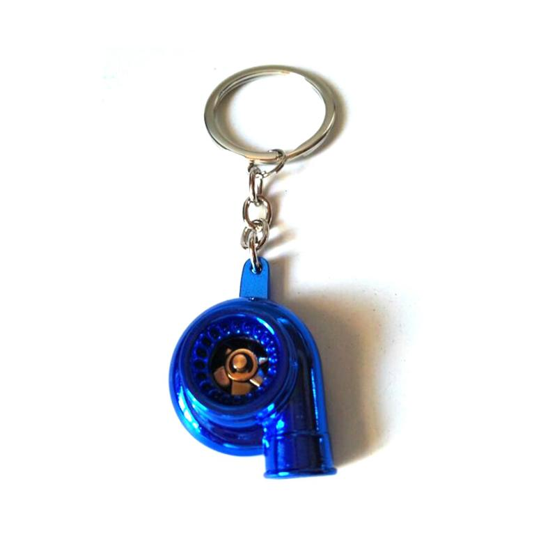Free Shipping Metal Turbo-charger Turbocharging Turbo Style Keyring Key chain