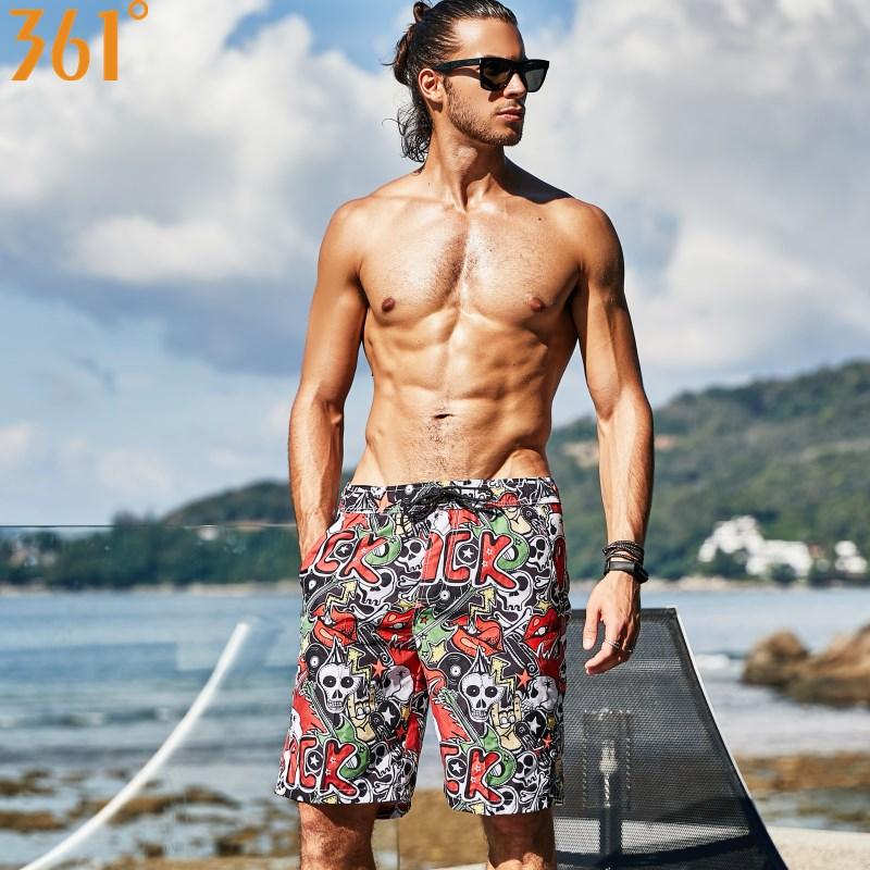 361 Men Swimming Shorts Quick Dry Surf Pants Beach Board shorts Sports Mens Swimming Trunks Boys Swimming Short Male Swimwear