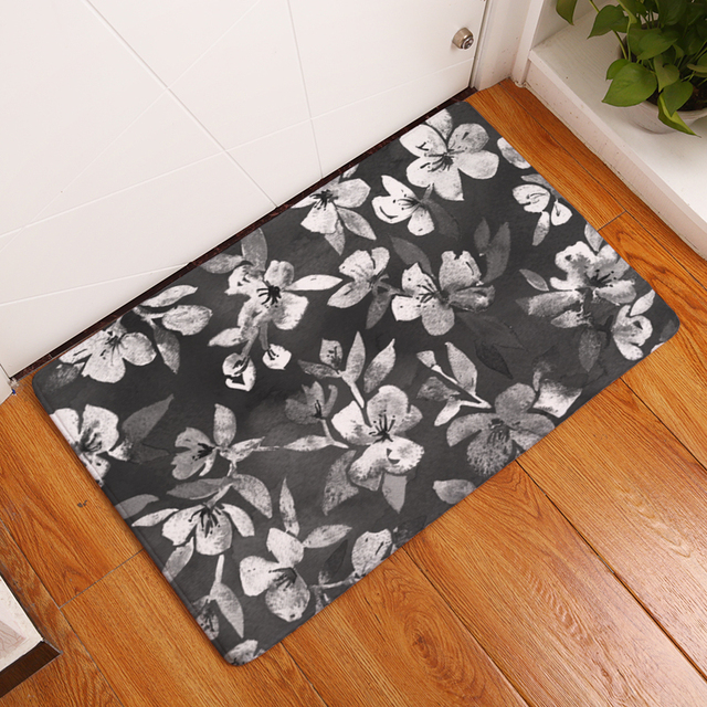 Attrayant 2017 New Home Decor Floral Carpets Non Slip Kitchen Rugs For Home Living  Room Floor