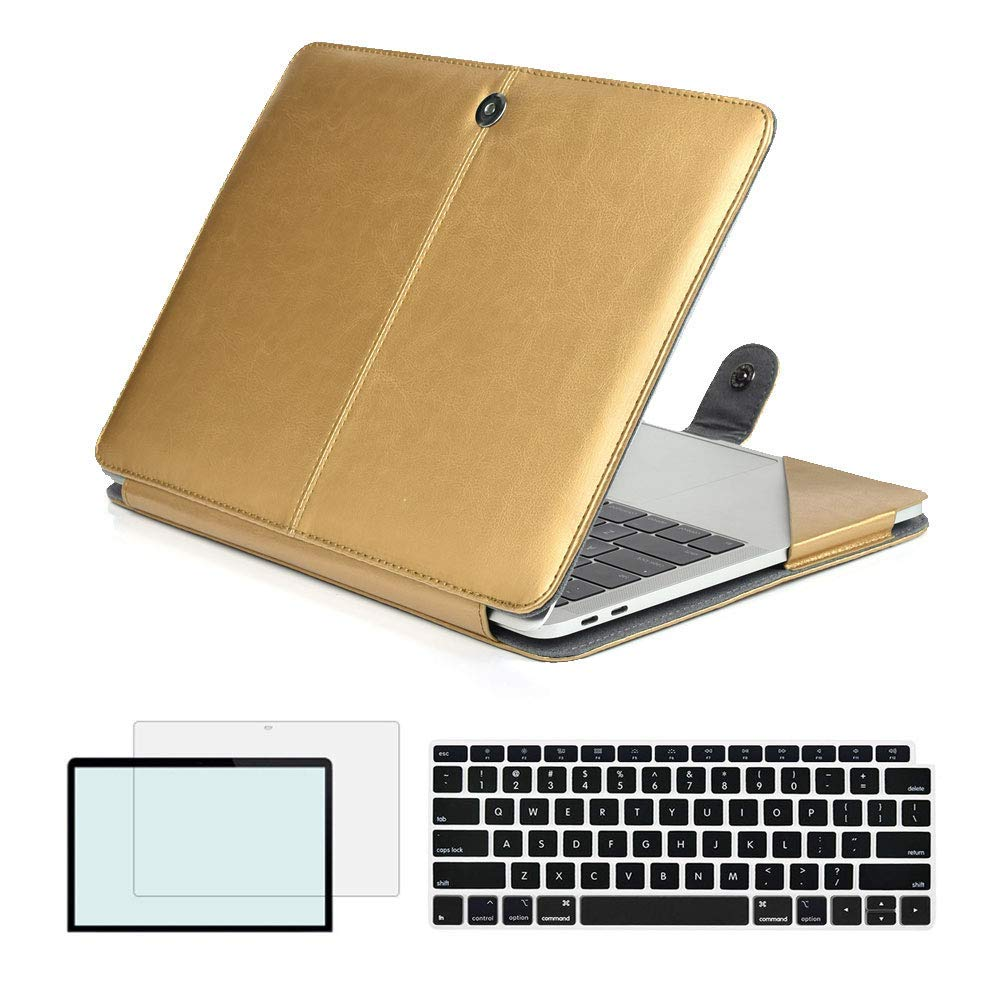 Magnetic Holster Pu Leather Case Cover for Newest Macbook Air 13 inch 2018 Release A1932 model with Retina Display Touch ID latest macbook air model