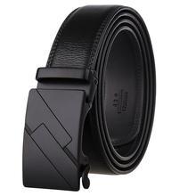 New Arrivals Men Genuine Leather Belt Cowhide Cowboy Designer Belt Straps With Alloy Automatic Buckle Black Leather Straps