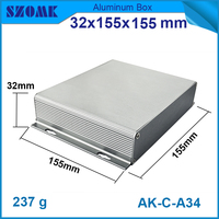 1 Pcs Lot 32 H X155 W X114 L Mm Free Shipping Electronics Aluminium Junction Box