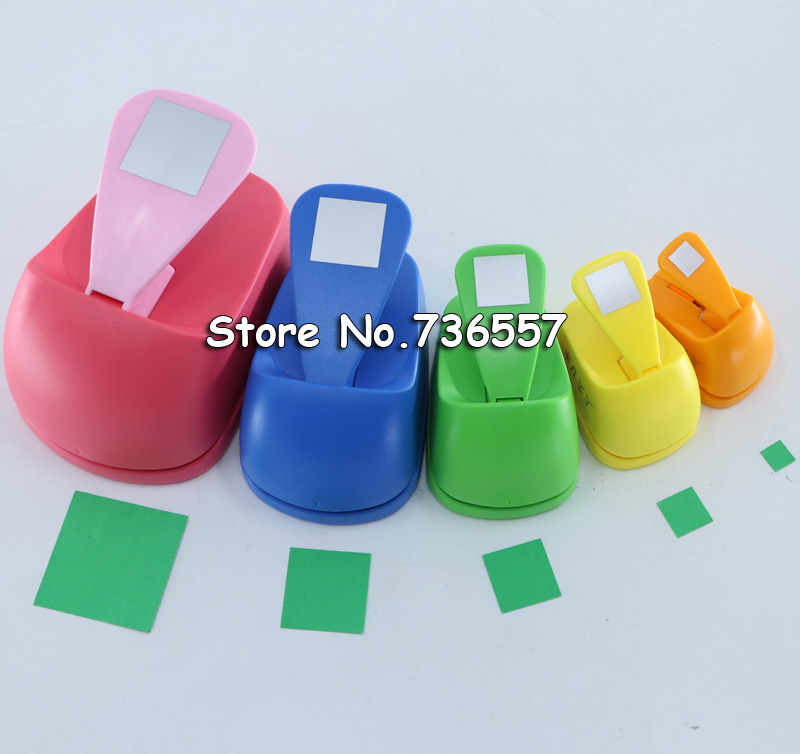 Free Shipping 18mm-53mm Square Shaped Craft Punch Scrapbooking School DIY Paper Cutter EVA Foam Geometry Hole Punches