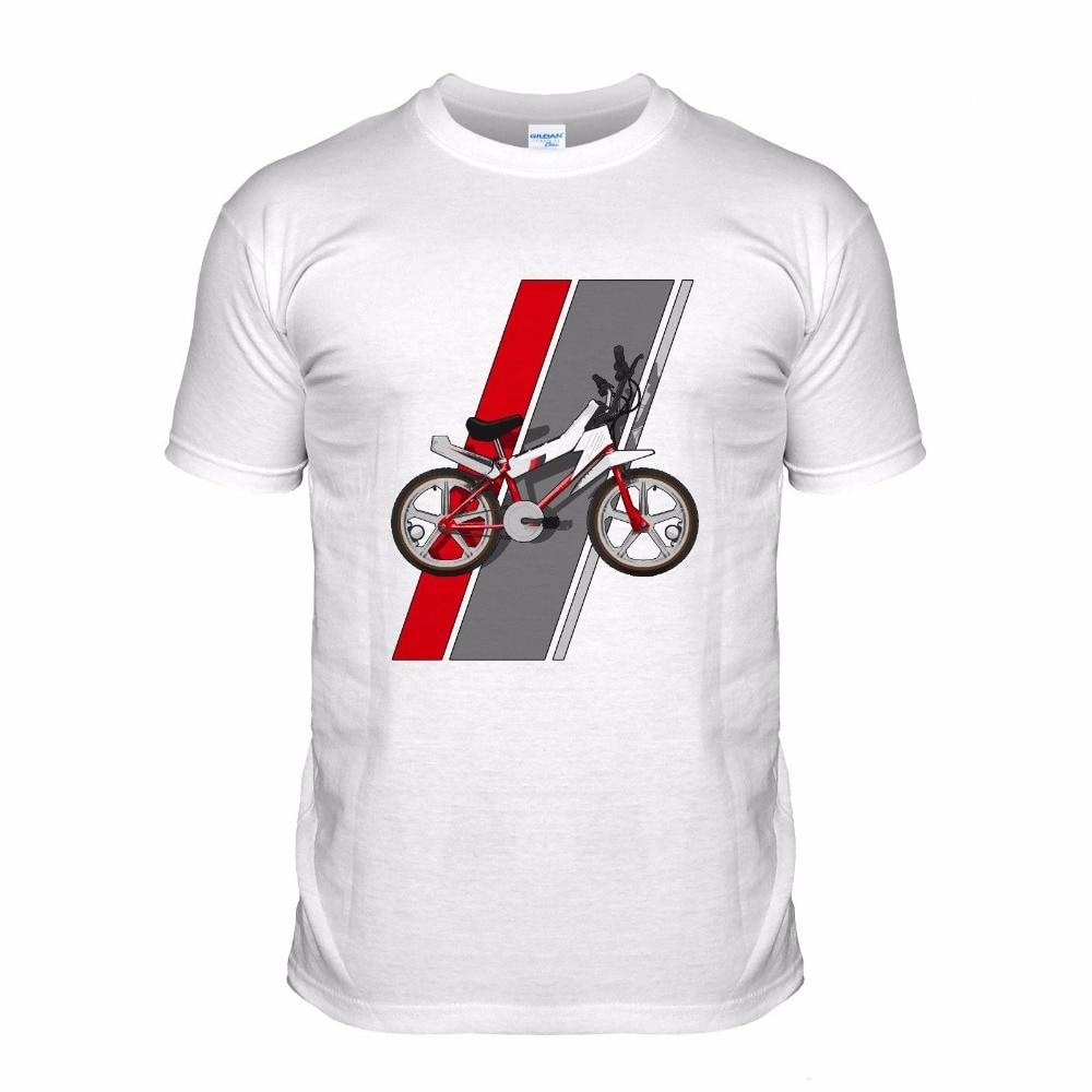 Cotton Men T-Shirts 2018 Round Neck Short Sleeve Fashion T-Shirt Bmx 80S Cycle Classic Dirt Biker Sportser Bicycle Retro Tees