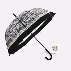 Image 2 - PALONY Transparent longue poignée pluie parapluie Ultra léger femmes enfants Parasol pluie parapluie semi automatique femelle parapluies