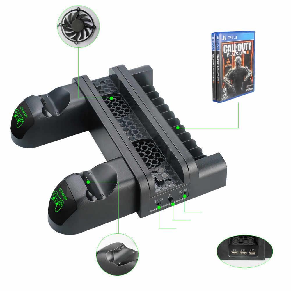 متعددة الوظائف حامل شاحن تحكم قاعدة لتثبيت الكمبيوتر المحمول ل PS4/PS4 ضئيلة/PS4 برو شحن قوس حامل التبريد برودة مروحة 3 USB
