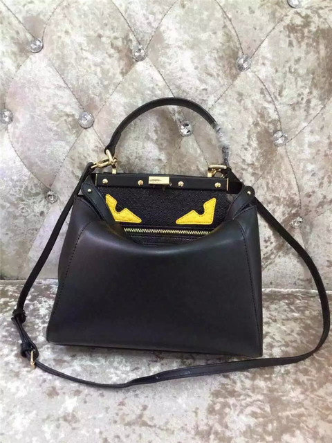 aaeb9fac93 summer peekaboo evil monster big eyes women leather top-handle tote bag  Carteira designer brand fend handbags bolsas femininas
