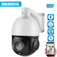 Mini 5MP IP Camera PTZ 36X Zoom Outdoor Security Network P2P IR Night 80m Onvif CCTV Speed Dome IP Camera Built in POE
