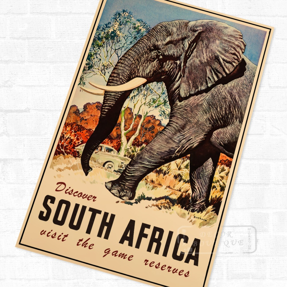 0ab98ed34e Discover Africa African Propaganda Vintage Travel Poster Retro Canvas  Painting DIY Wall Stickers Art Home Bar Posters Decor Gift