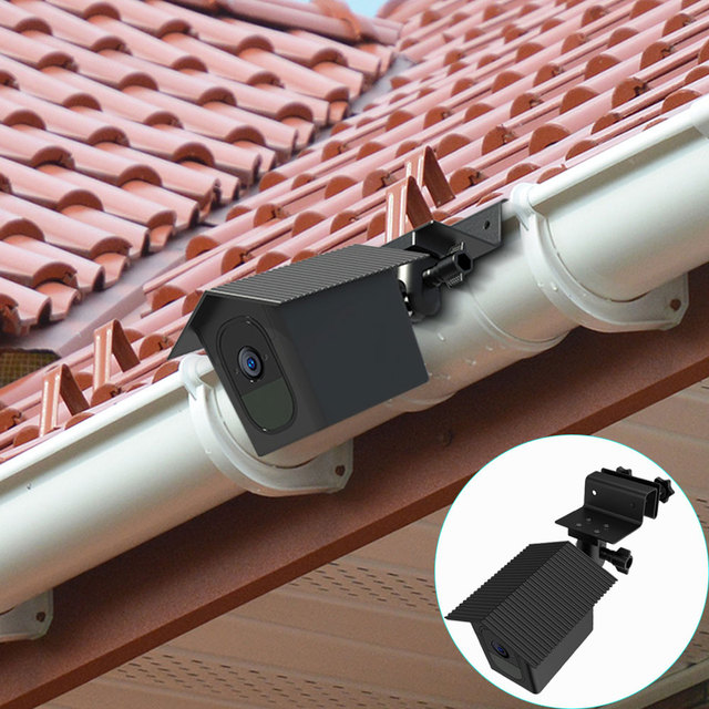 for Arlo Pro 2/Arlo Pro Camera Outdoor Gutter Mount with Weatherproof Protective Case Surveillance Camera Mounting Brackets