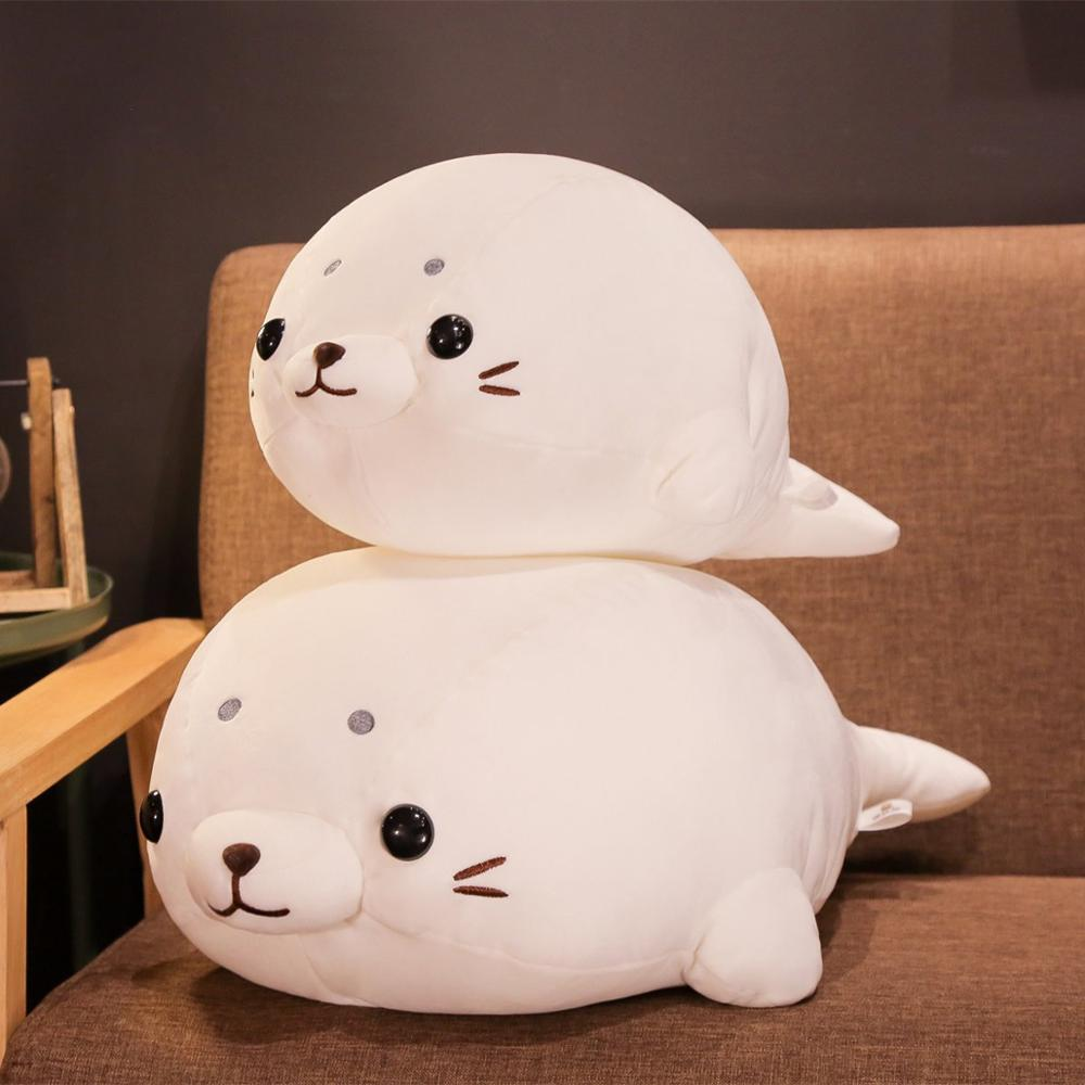 1pc 50 60cm Soft Down Cotton Lying Seal Plush Toys Lovely Stuffed Animal Doll Kawaii Pillow Home Decor Brinquedos Gift for Kids in Stuffed Plush Animals from Toys Hobbies