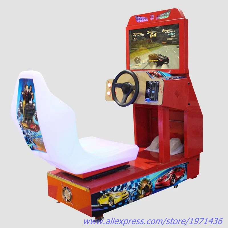 Kids Amusement Park Equipment Coin Operated Drive Car Racing Game Machine