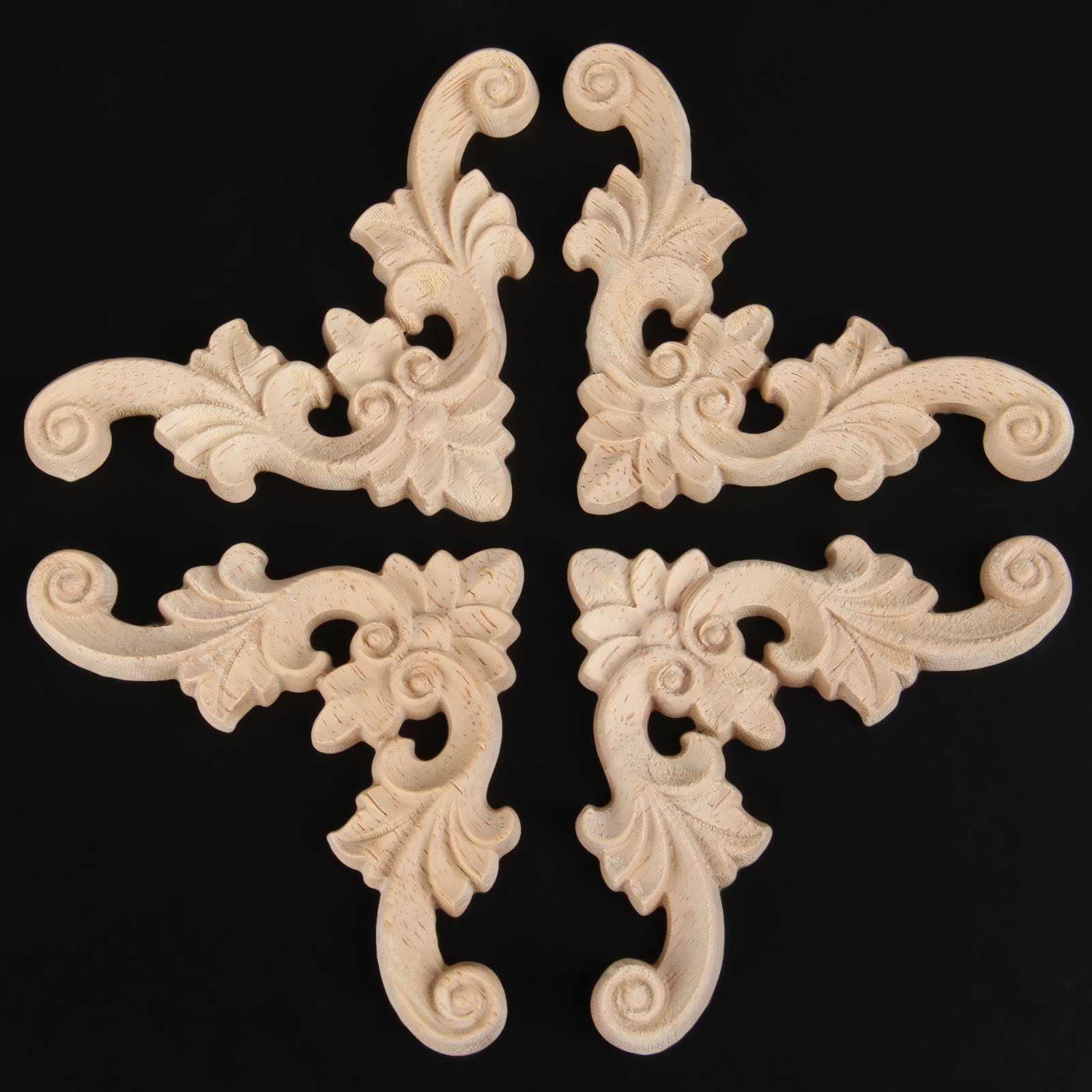 1pc Woodcarving Decal Corner Wood Carved Corner Wall Door