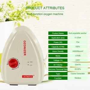 Image 5 - ATWFS Multifuctional 400mg/H Ozone Generator Water Ozone Fruit and Vegetable Washer Water Air Sterilizer Ozonizer