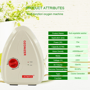 Image 5 - Atwfs multifuctional 400 mg/h gerador de ozônio água ozônio frutas e legumes máquina lavar água esterilizador ar ozonizador
