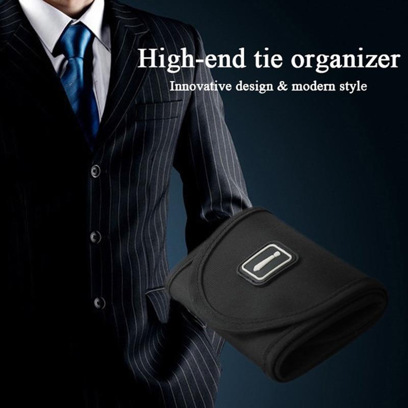 Travel Roll Tie Storage Case Necktie Holder Organizer for Men Business Trip