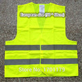 Free shipping reflective vest clothing reflective vests construction nighttime reflective yellow reflective vests