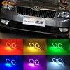 For Skoda Superb 2008 2014 Excellent Angel Eyes Kit Multi Color Ultrabright 7 Colors RGB LED