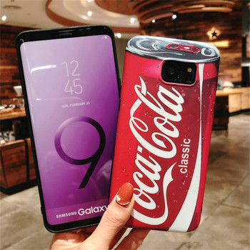 Cola Phone Case For Samsung Galaxy S9 Plus S7 Edge S8 Case For Samsung Galaxy Note 9 Note 8 Coque Fundas Capa Carcasa Pepsi Case coca cola