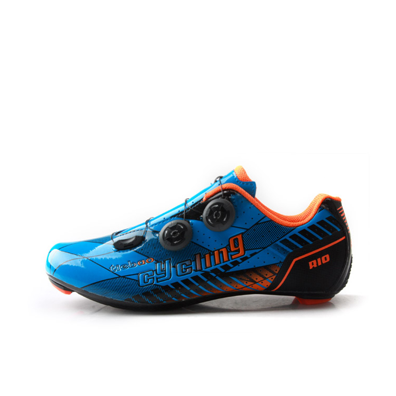 TIEBAO lightweight Road Cycling Shoes Professional Road Bicycle Shoes Carbon Fiber Bike Shoes Ultralight Cycle Shoe R1680