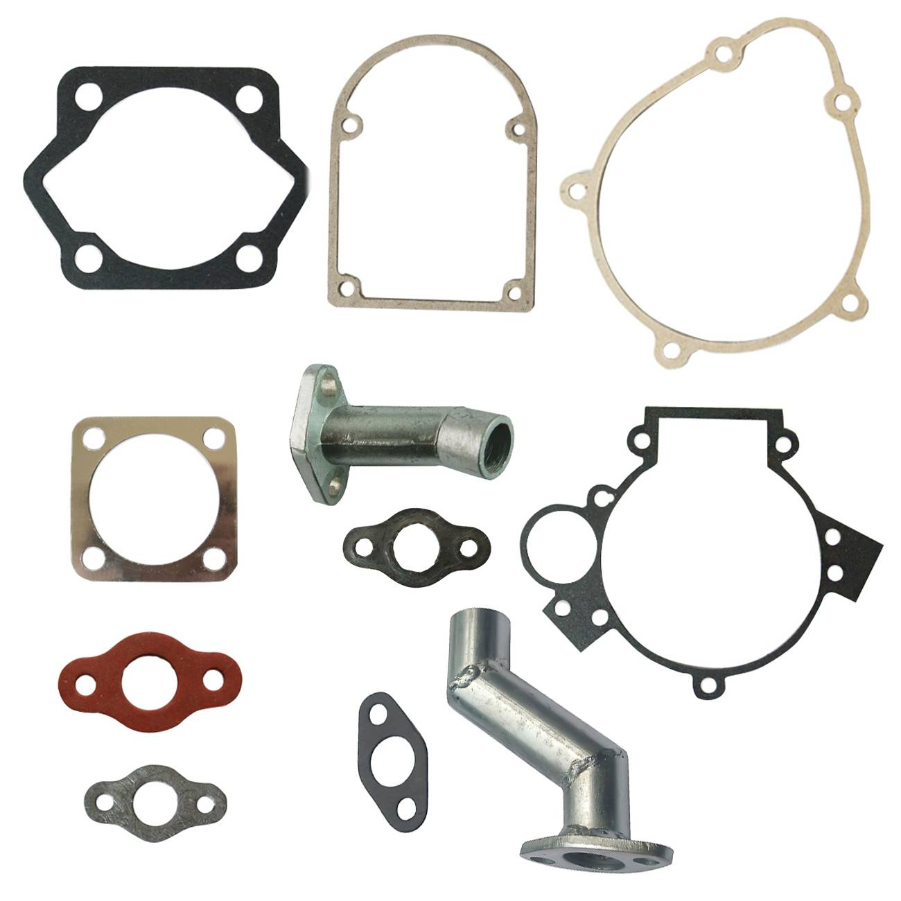 Gasket Kit&Intake Manifold <font><b>Carburetor</b></font> For 49cc 66cc <font><b>80cc</b></font> 2 Stroke Motorized Bike image