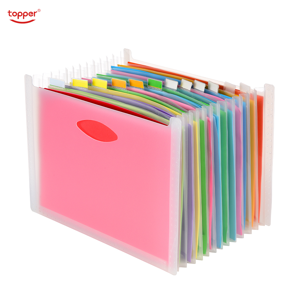 Expanding File A4 Folder Office School Portfolio File Folders Document Organizer Plastic 12 Pockets 1500 Sheets Large Capacity