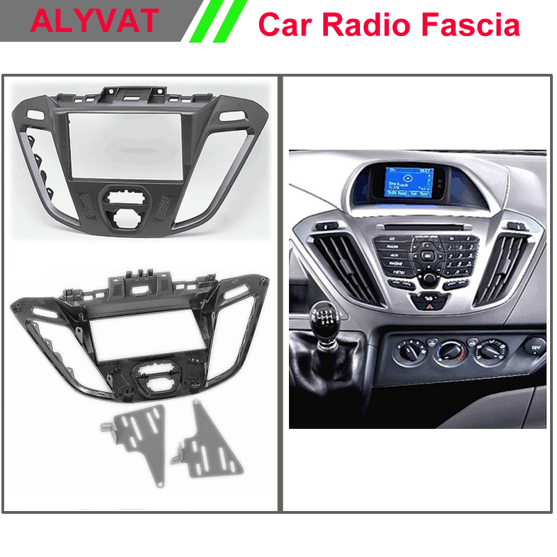 Car Radio Fascia Dash CD Panel for FORD Transit Custom, Tourneo Custom 2012+ Stereo Fascia Dash CD Trim Installation Kit ityaguy fascia for ford ranger 2011 stereo facia frame panel dash mount kit adapter trim