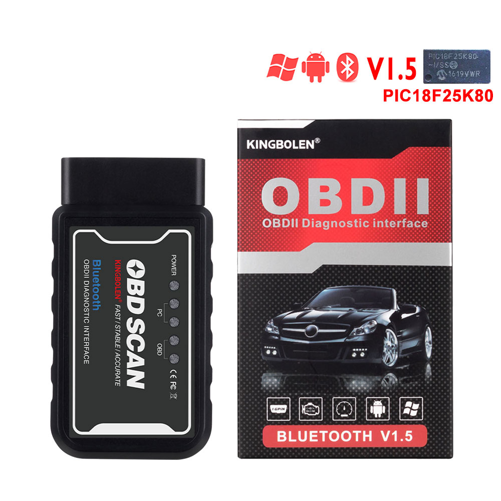 HTB1GGnHaffsK1RjSszbq6AqBXXaS ELM327 Wifi Bluetooth V1.5 PIC18F25K80 Chip OBD2 Code Reader ELM 327 V1.5 OBDII Diagnostic Tool for Android/IOS/PC auto scanner