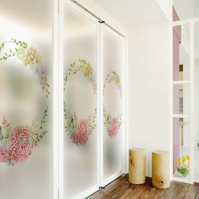 Fenster Aufkleber Glasaufkleber Milchglas Film Schiebetür Balkon  Transluzenten Opaque Dekoration Badezimmer Wohnzimmer 82