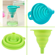 Food Grade 1 piece Mini Silicone Gel Funnel – Foldable Collapsible Style Funnel – Hopper Kitchen Garden Cooking Accessories Tools