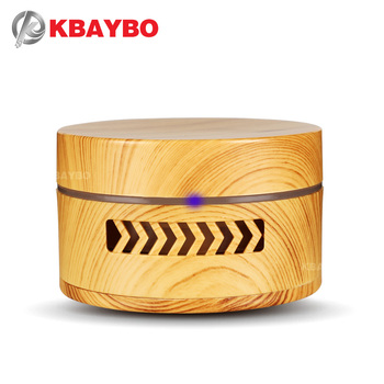KBAYBO Mini Aroma Diffuser Wood Grain Fragrance Air Purifier Essential Oil Diffuser Replaceable Battery Air Cleaner in Car Home