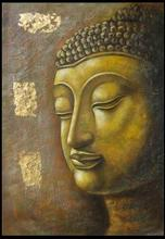 100% hand painted oil painting on canvas buddha 50x60cm for home decoration