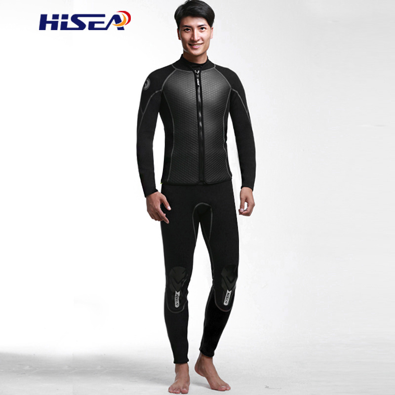 Hisea 2.5 ミリメートルネオプレンダイビングジャケット 2 ミリメートルパンツズボンウェットスーツ風サーフィンサメ皮釣りシュノーケリング弾性ウォームパンツ  グループ上の スポーツ & エンターテイメント からの ウェットスーツ の中 1
