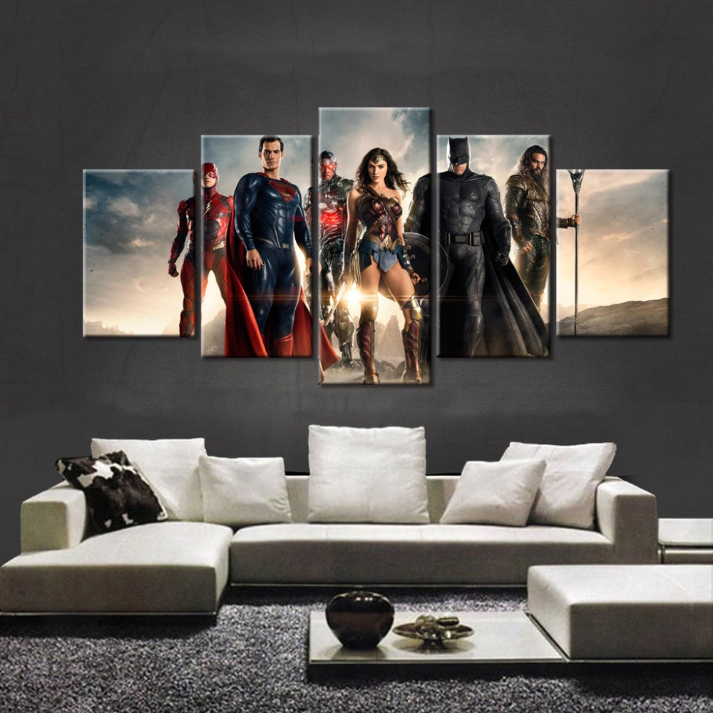 Online get cheap justice league posters for Room decor justice