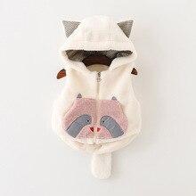 2016 nouveau bébé d'hiver d'hiver gilet veste fille robe princesse vêtements de laine gilet enfants de marque 1-3 ans livraison gratuite