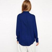 Womens Tops Shirts 2016 Autumn Summer Plus Size S 6XL Long Sleeve Basic Single Breasted Chiffon