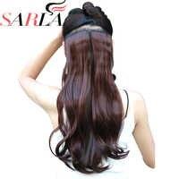 SARLA Lockige 1Pc 20 24 28 Clip in Haar Extensions Synthetische Haarteile Highlight Haar Wärme- freundliche Faser 23 Farben Erhältlich