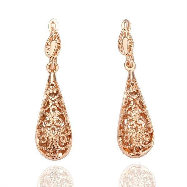 holiday 18KGP Gold Plated Earrings Fashion Jewelry  Plating Platinum Rhinestone Made with Austrian Crystal new