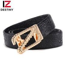 цены DESTINY Designer Belts Men High Quality Male Genuine Leather Strap Luxury Famous Brand Z Belt Crocodile cinto masculino ceinture