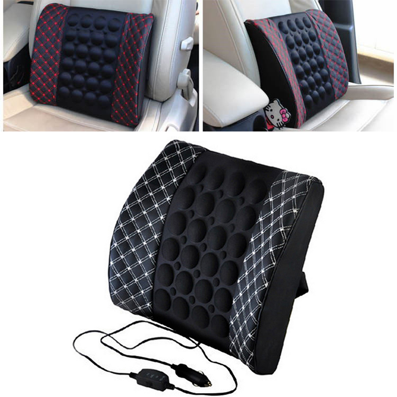 Universal 12V Auto Electric Massage Car Waist Seat Back Cushion Support Protection Lumbar Backrest Vehicle Interior SuppliesUniversal 12V Auto Electric Massage Car Waist Seat Back Cushion Support Protection Lumbar Backrest Vehicle Interior Supplies