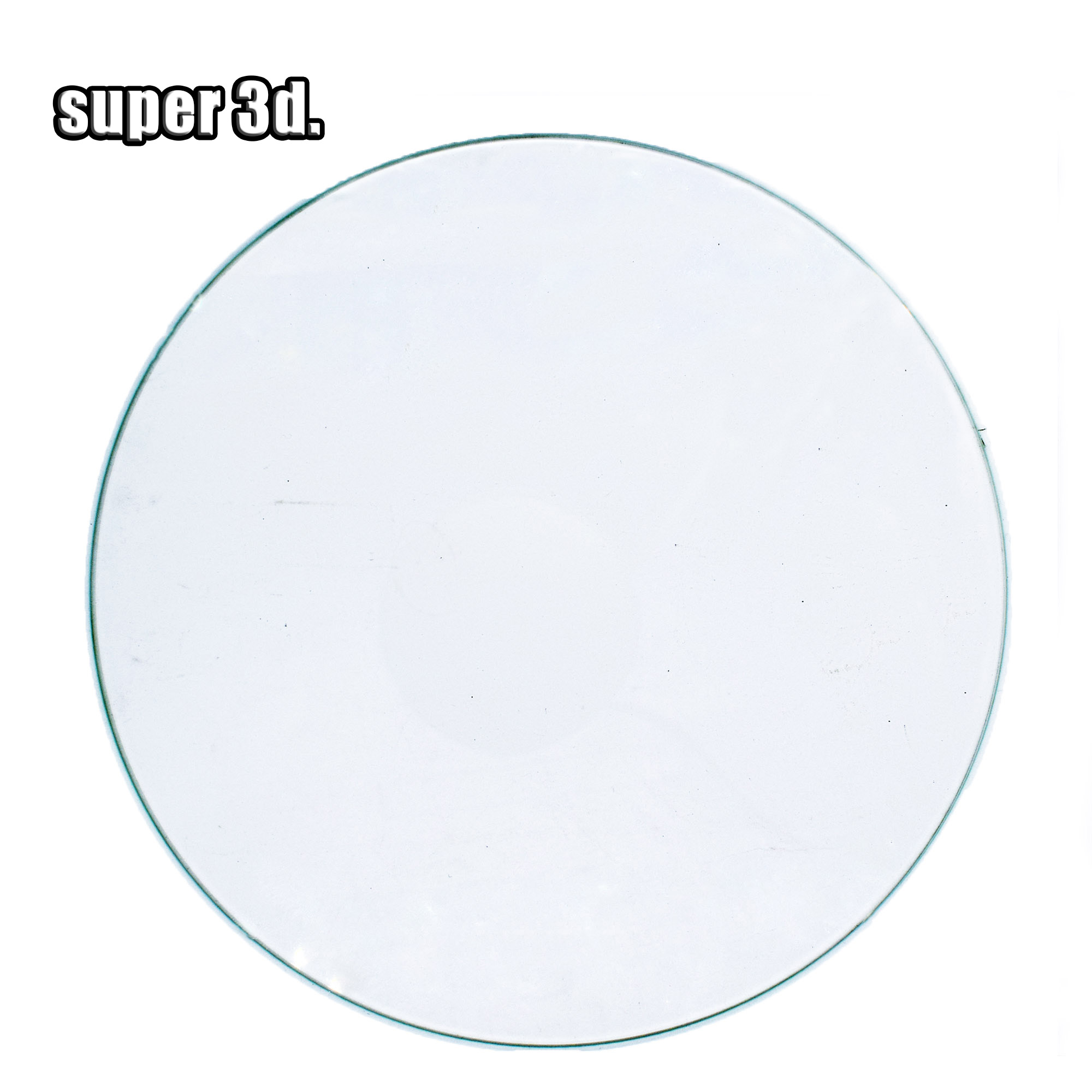 3D Printer Round Borosilicate Glass Plate Heated Bed Diameter 200/220/240mm Flat Transparent Tempered Glass For Kossel Delta