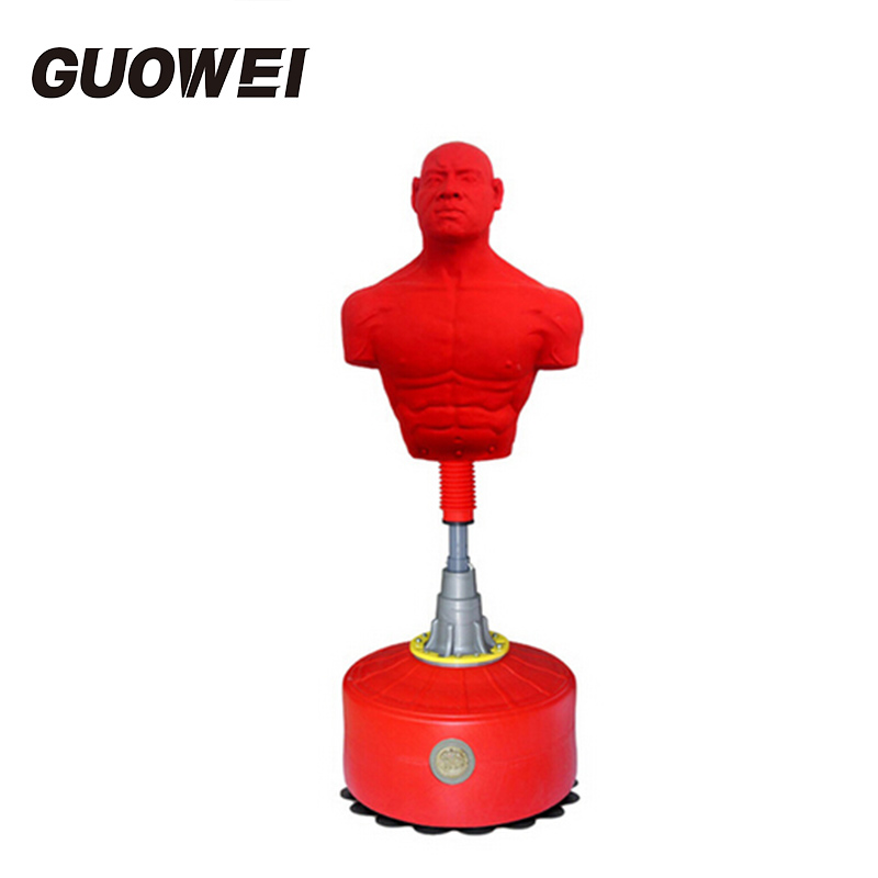 Household Vertical boxing bag adjustable solid punching bag adult humanoid silicone kick boxing sand bag for Sanshou Thai Boxing wholesale pretorian grant boxing gloves kick pads muay thai twins punching pads for men training mma fitness epuipment sparring