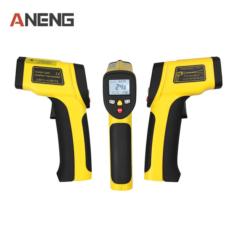 IR Non-contact Temperature Gun Digital Dual Laser IR Infrared Thermometer -50C~1050C handheld digital electronic car 2017 bside btm21c infrared thermometer color digital non contact ir laser thermometer k type 30 500 led