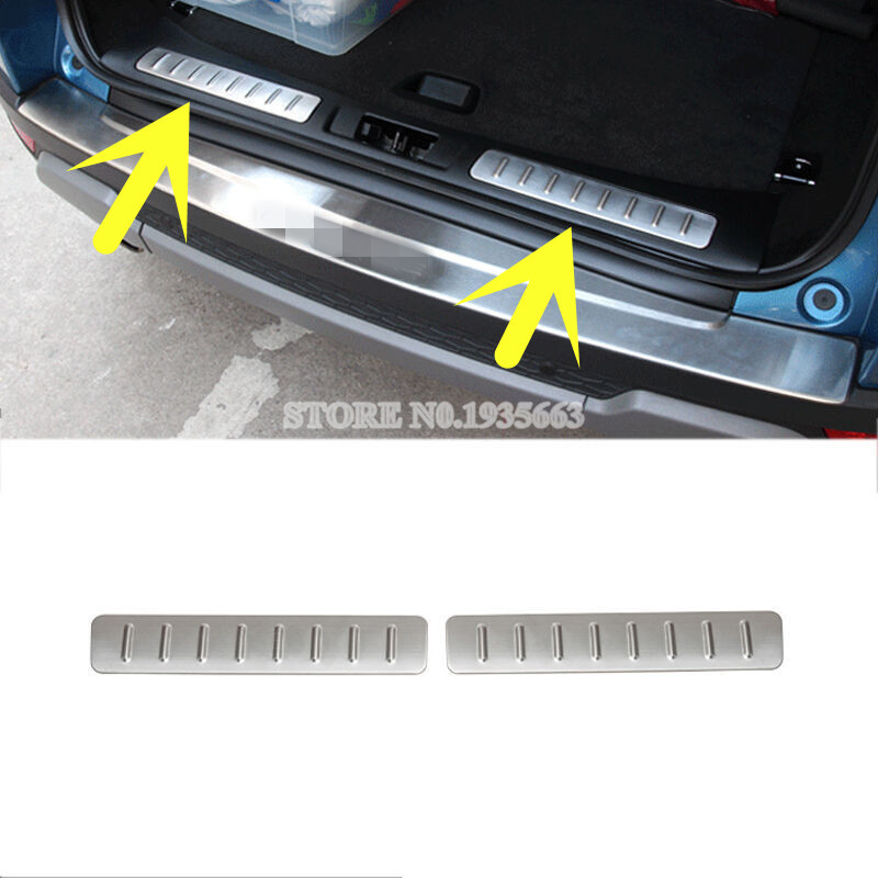 For Land Rover Range Rover Evoque Inside Rear Bumper Protector Sill Plate 2012-2016 2pcs for land rover range rover sport stainless inside door sill scuff plate 2014 2017 4pcs silver black