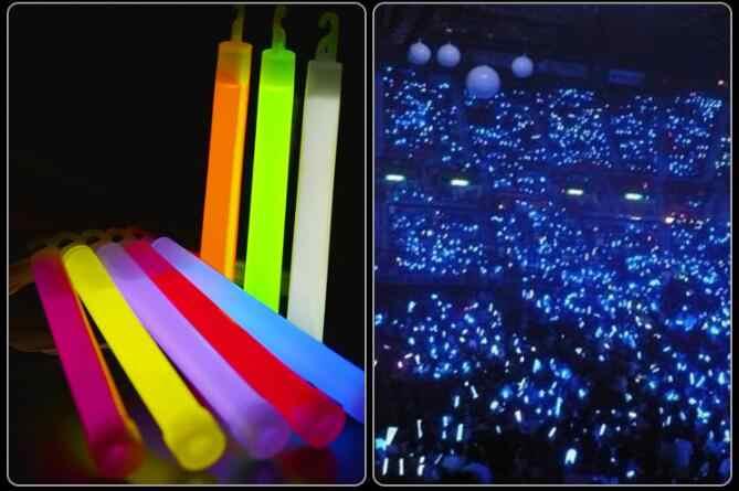 10 sztuk 6 cal klasy przemysłowej blask w ciemności kije pomadka rozjaśniająca Party lampy kempingowe Glowstick chemicznych fluorescencyjne losowy kolor