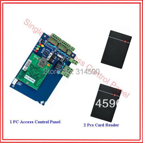 ФОТО Punch Card One Door Access Control Panel L01 with 2 pcs RFID Card reader
