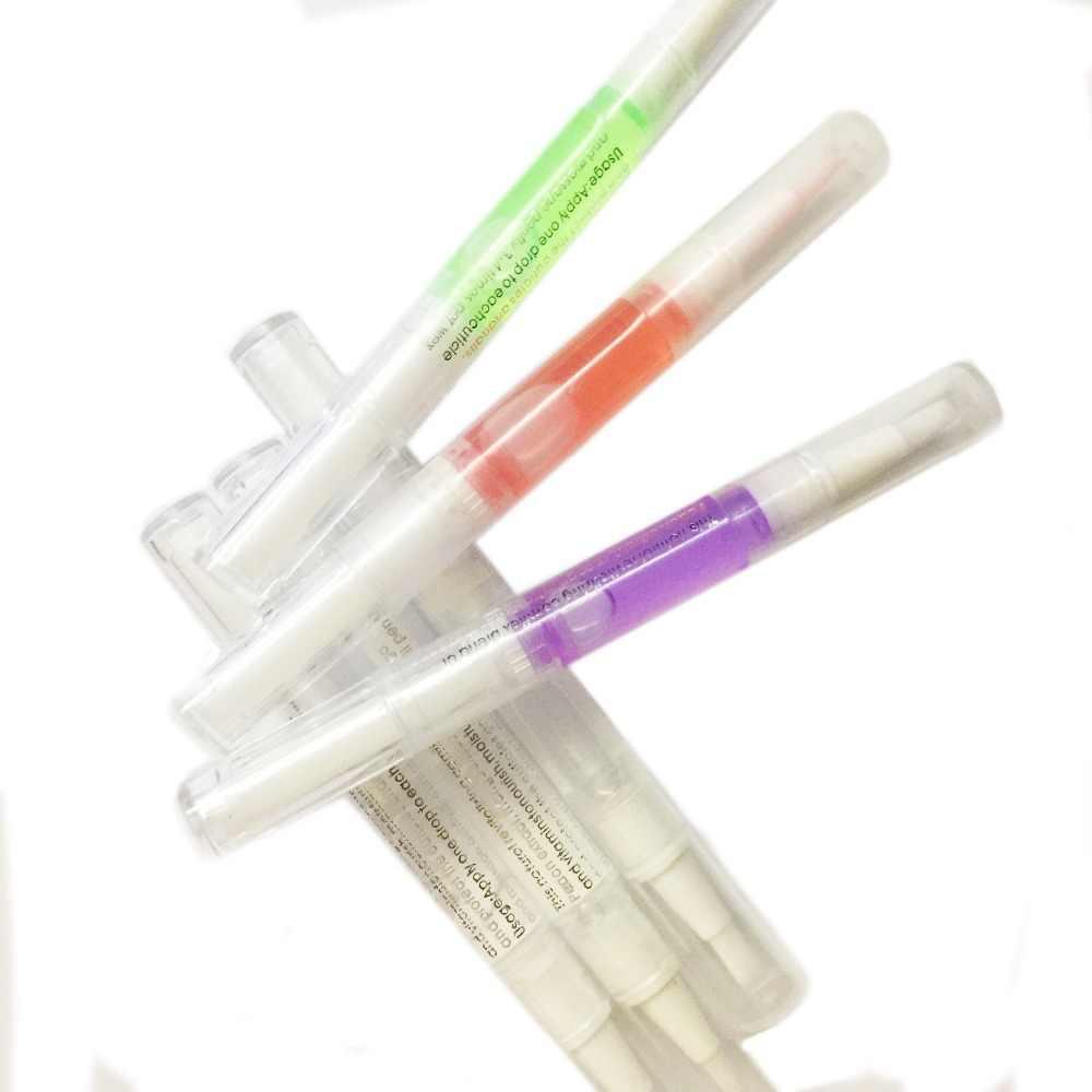 10 Pz/lotto New Cuticola Revitalizer Oil Treatment Nutriente Polacco Manicure Ammorbidire Lo Strumento Penna Nail Olio per Cuticole Pen